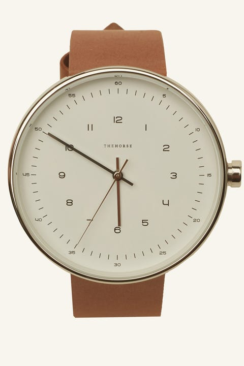 THE HORSE The Minimal 40mm Silver/White/Tan