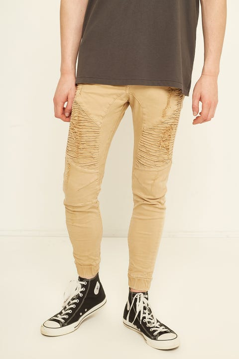 KISS CHACEY Zeppelin Denim Jogger Sand