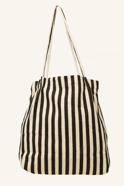 TOKEN Stripe Tote Bag Black Stripe