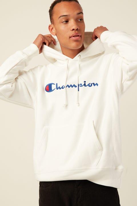 Champion Reverse Weave Script Embro White