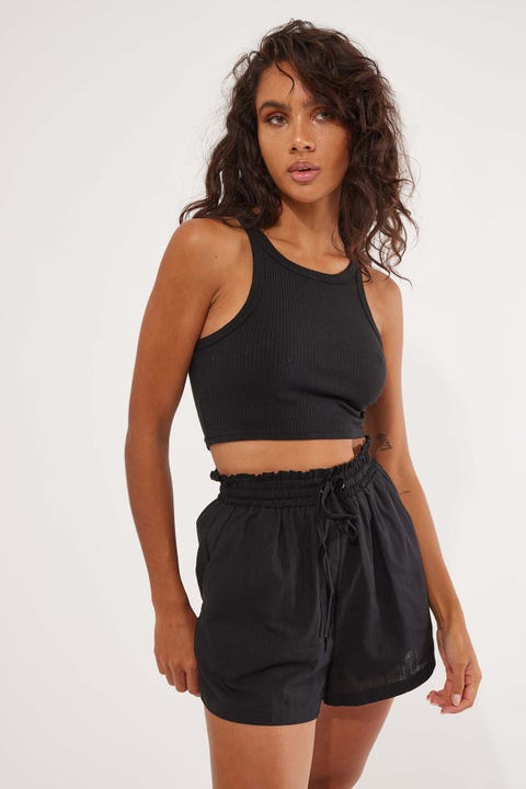 L&T Ellie Elastic Short Black