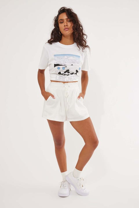 L&T Ellie Elastic Short White