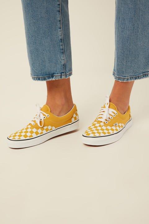 VANS Era Checkerboard Checkerboard Yellow/White