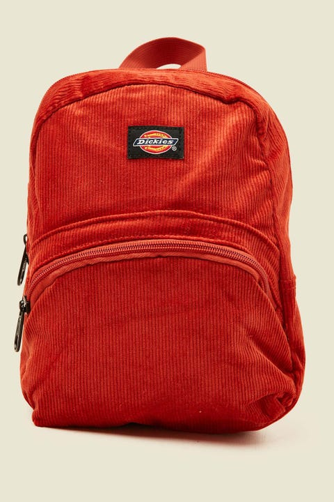 DICKIES Corduroy Mini Backpack Rust