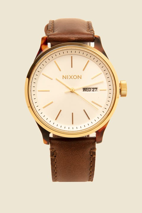 NIXON The Sentry Luxe Tortoise/White Sunray/Brown