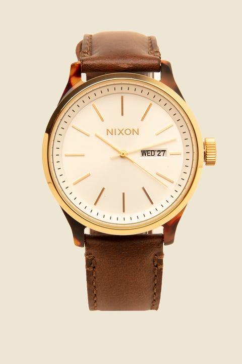 NIXON The Sentry Luxe Tortoise/White Sunray/Brown