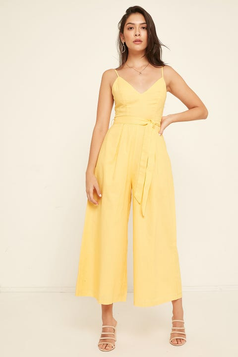 PERFECT STRANGER Dawn Jumpsuit Yellow