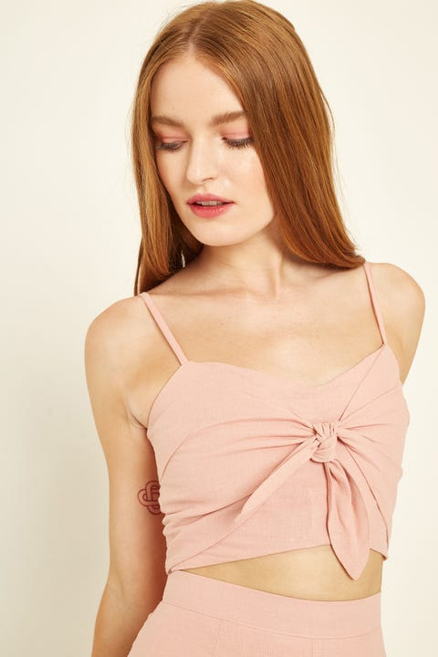 PERFECT STRANGER Little Tie Top Pink