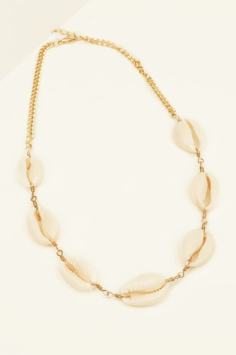 Token For Real Shell Necklace Gold