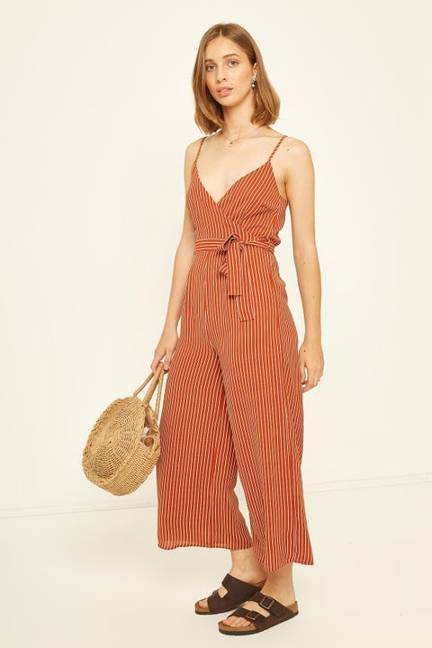 PERFECT STRANGER Cross Over Jumpsuit Rust