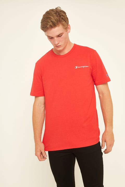 Champion Heritage (LC Script) Tee Red/White