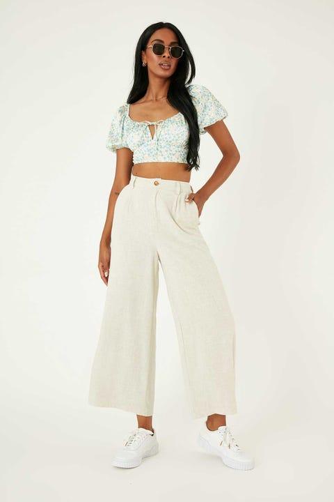 Perfect Stranger Mara Linen Pant Oatmeal
