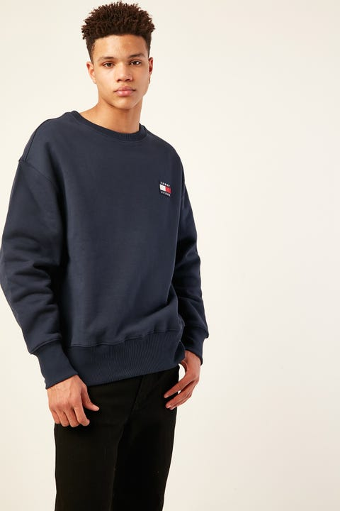 Tommy Jeans TJ US Tommy Badge Terry Crew Black Iris