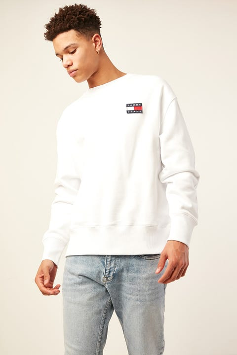 TOMMY JEANS TJ US Tommy Badge Crew Classic White
