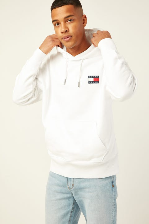 TOMMY JEANS TJ Tommy Badge Hoodie Classic White