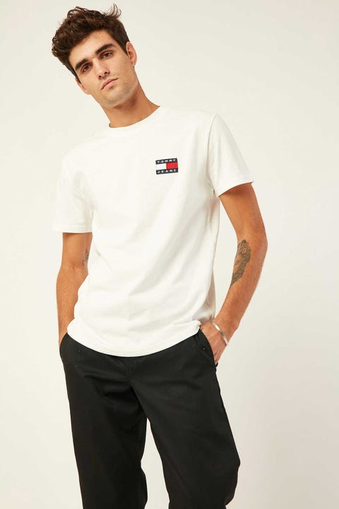 Tommy Jeans TJM Tommy Jeans Badge Tee Classic White