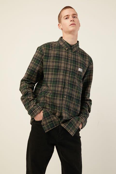 LOWER Raf Shirt Green Check