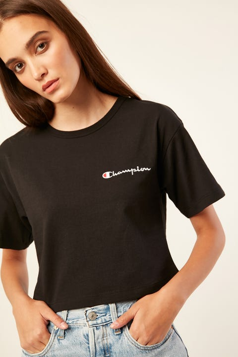 Champion Heritage Crop Tee Black