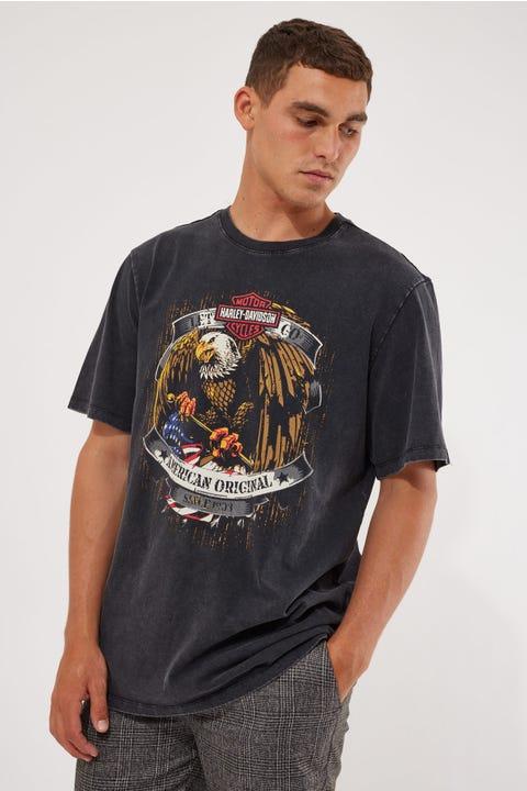 Harley-davidson Let's Go Tee Vintage Black