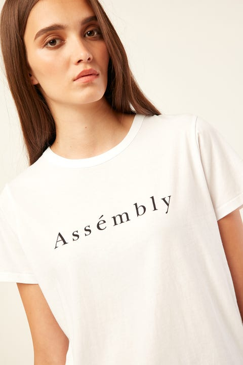 ASSEMBLY Accent Tee White