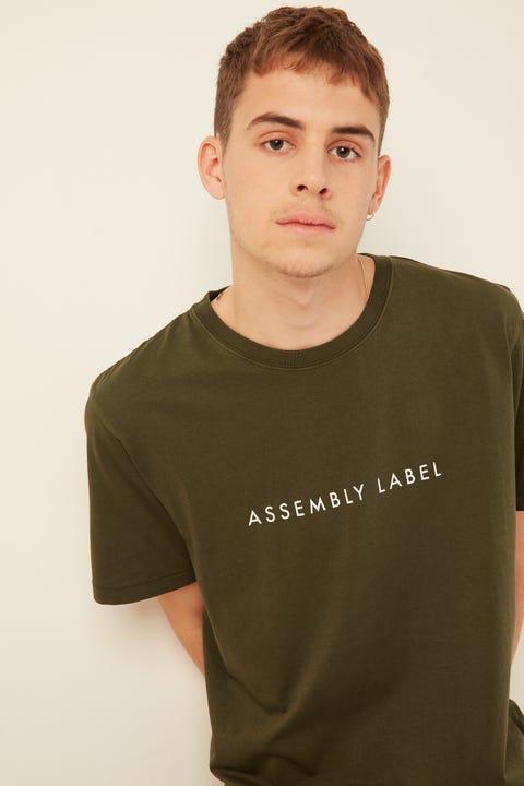 Assembly Logo Tee Moss Green