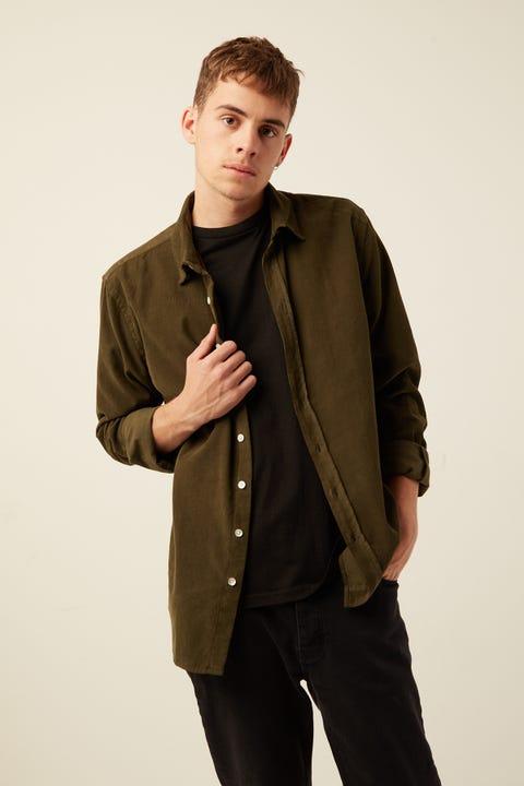 ASSEMBLY Cord Shirt Moss Green