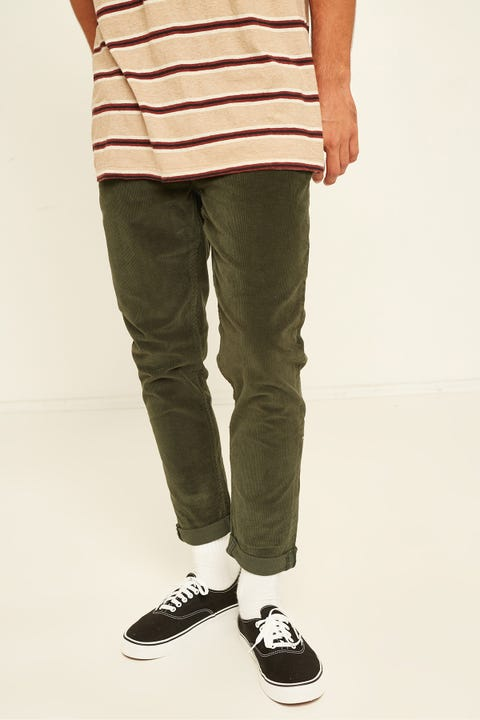 THRILLS Shortie Cord Pant Jungle Green