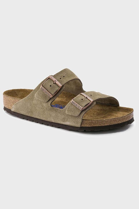 Birkenstock Womens Arizona SFB Suede Leather Taupe