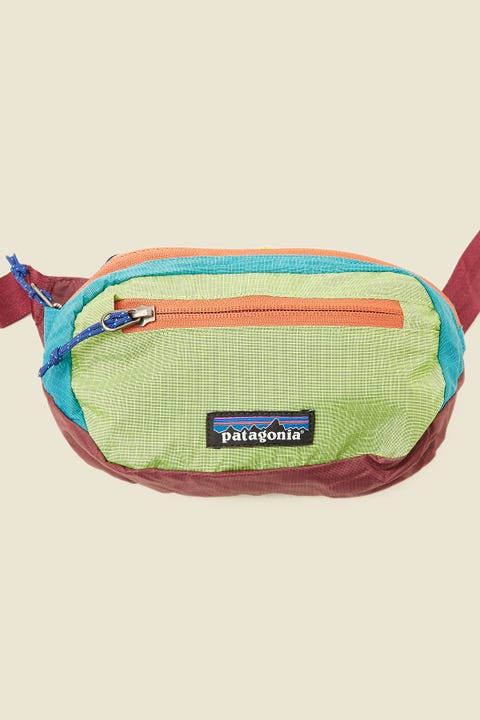 PATAGONIA Ultralight Black Hole Travel Mini Hip Pack Patchwork/Peppergrass Green