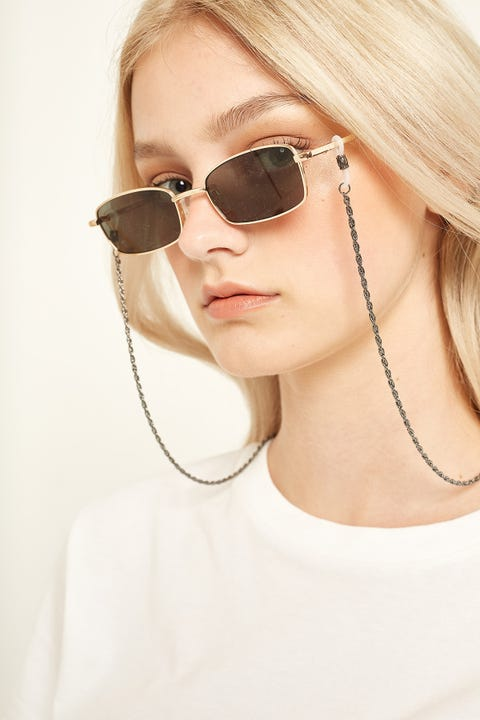 Le Specs Hollow Rope Sunglasses Chain Gunmetal