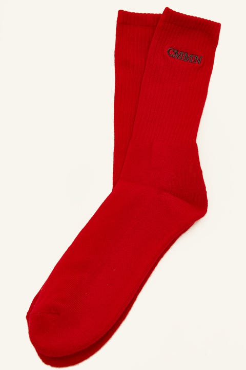 Common Need Pilot Sock Red