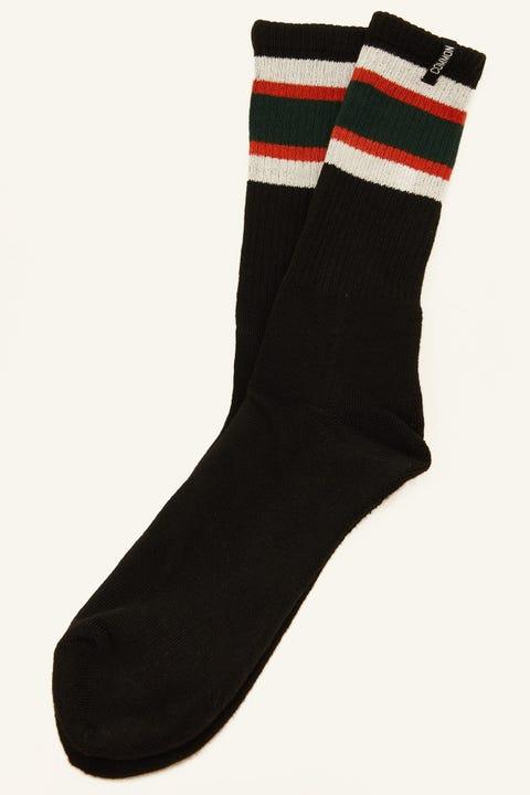 Common Need Retro Sock Black/Forest/Ivory/Orange