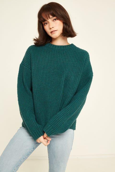 Perfect Stranger Larsen Chunky Knit Green