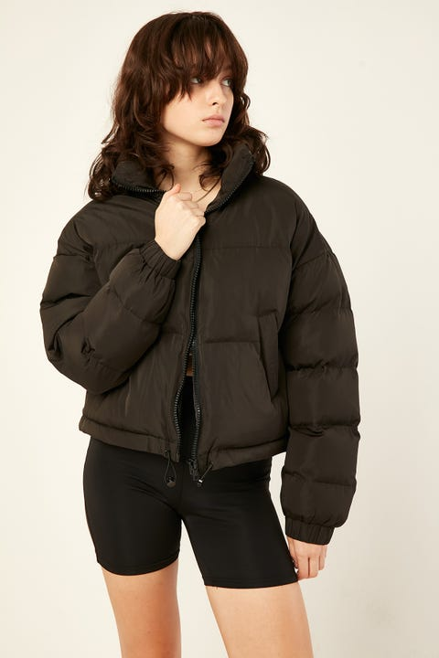 LUCK & TROUBLE Kiki Puffer Jacket Black