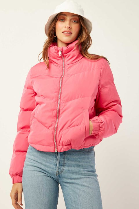 LUCK & TROUBLE Puff Jacket Pink