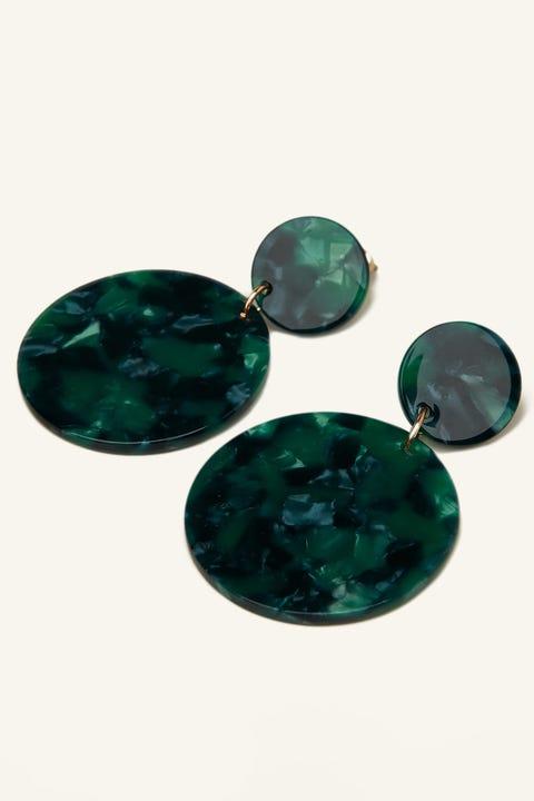 Token Paros Resin Earring Green