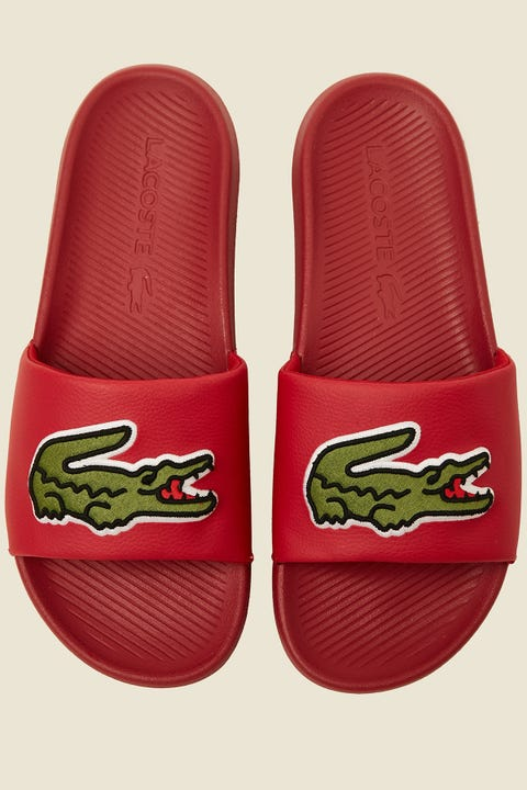 LACOSTE Croco Slide Red/Green