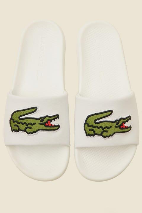 LACOSTE Croco Slide White/Green