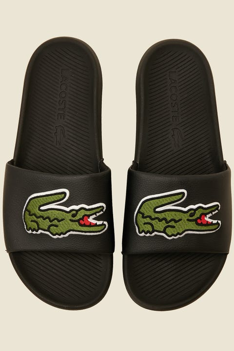 Lacoste Croco Slide Black/Green