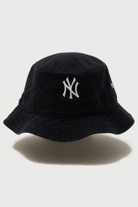 47 Brand Bucket Hat NY Yankees Black/White