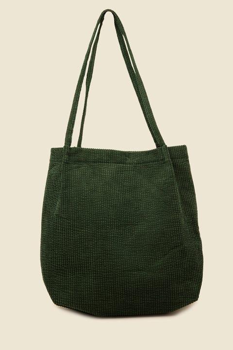 TOKEN Cord Tote Bag Green