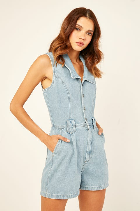 WRANGLER Sable Romper Lakes Blue