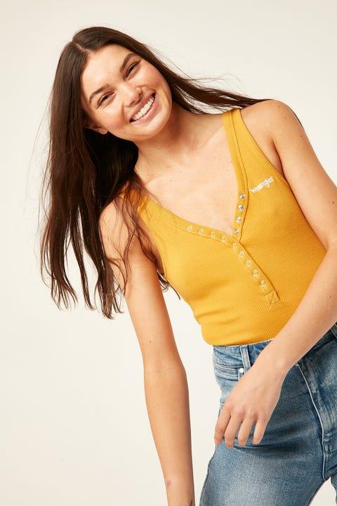 WRANGLER Jane Bodysuit Mustard