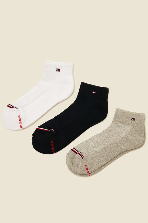 TOMMY JEANS 3 Pk Cushion Sole Multi