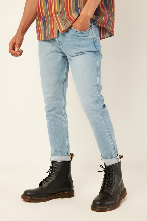 WRANGLER Sid Crop Jean Mercury Blue Denim