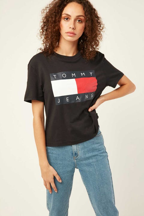TOMMY JEANS Tommy Flag Tee Tommy Black