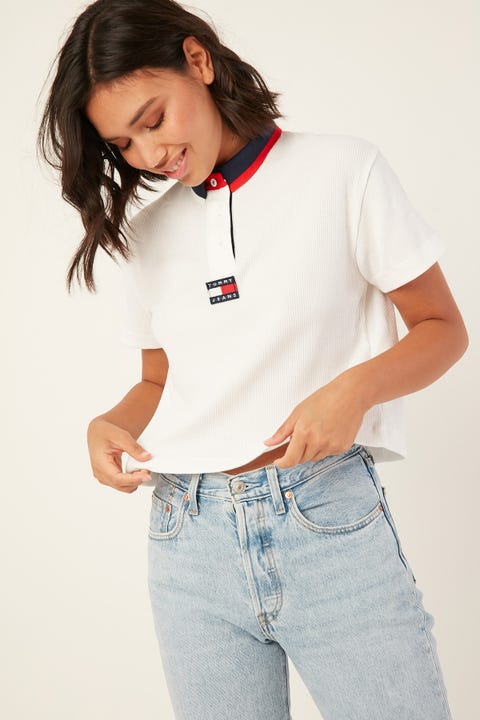 TOMMY JEANS Tommy Badge Polo Classic White