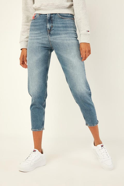 TOMMY JEANS High Rise Tapered TJ America Mid Bl Co