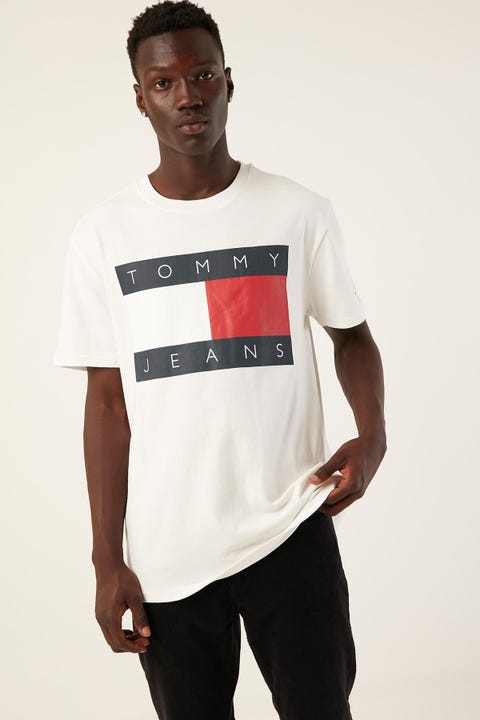 Tommy Jeans TJM Tommy Flag Tee Classic White