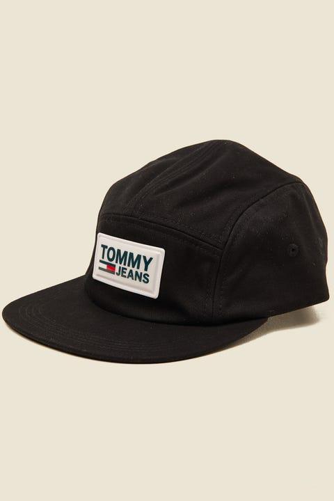 TOMMY JEANS 5 Panel Cap Black